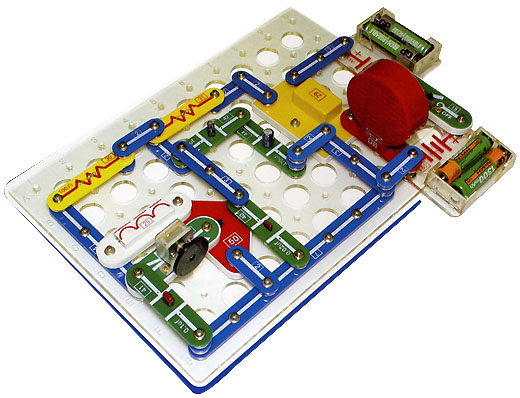 Электронный конструктор. идеальная развивающая игрушка для.