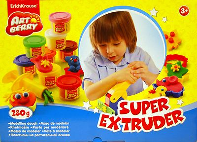Super Extruder Playset, Erich Krause (пластилин, 8 цветов по 35 г, серия Artberry)